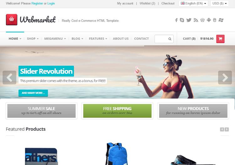 Webmarket HTML5 Template