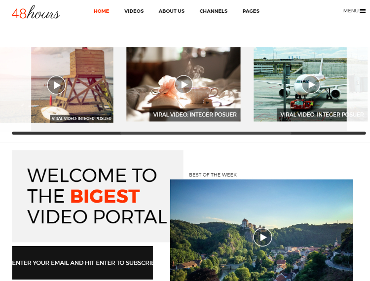 48Hours Video Sharing HTML5 Template