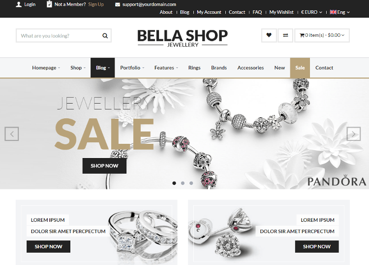Bella Jewelry HTML5 Template