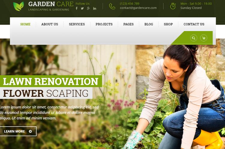 Garden Care HTML5 Template