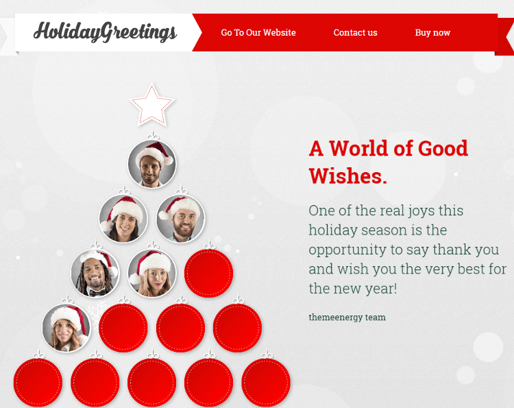 Holiday Greetings HTML5 Template