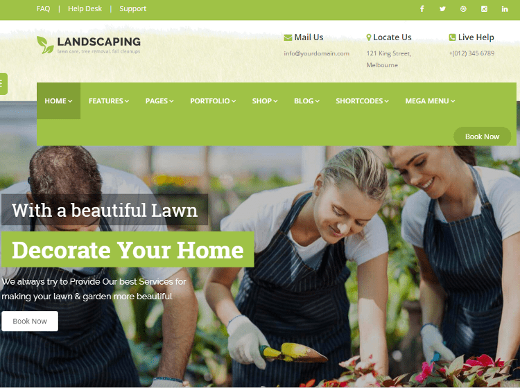 Landscaping HTML5 Template