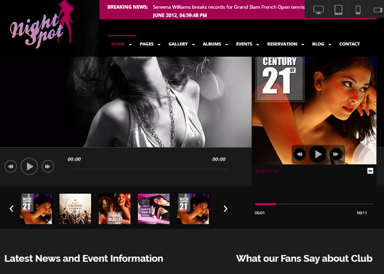 Night-Spot HTML5 Template