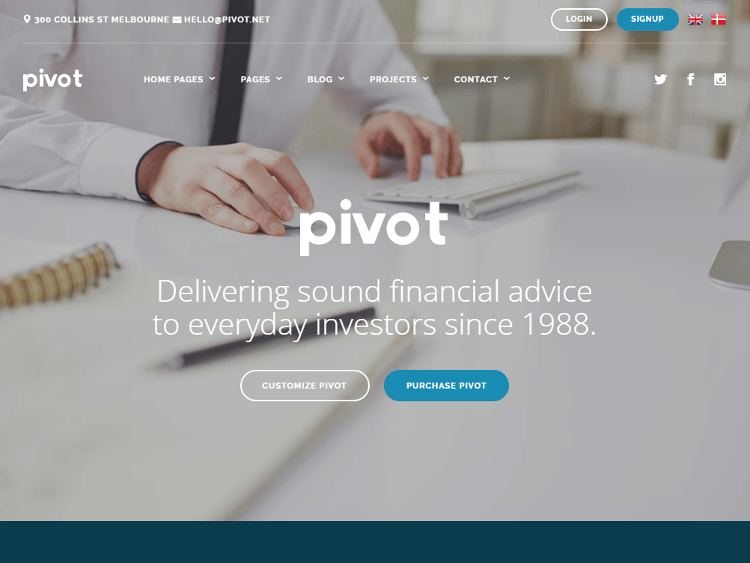 Pivot Consulting HTML5 Template