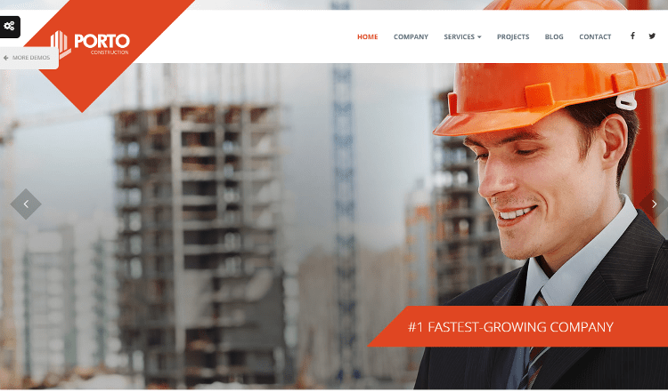 Porto Construction HTML5 Template