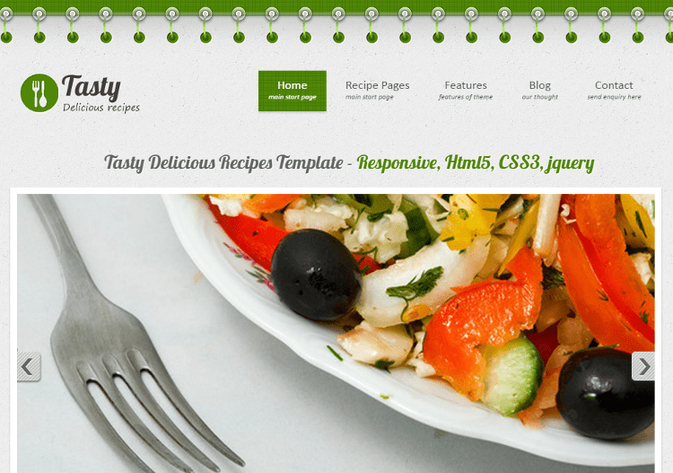 Tasty Delicious HTML5 Template