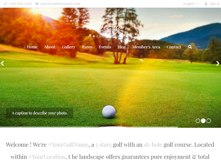 Tee Up HTML5 Template