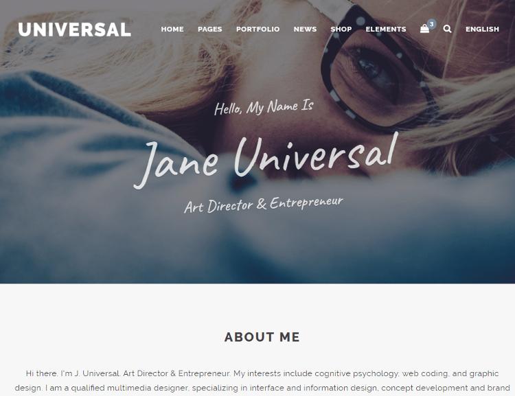 Universal HTML5 Template