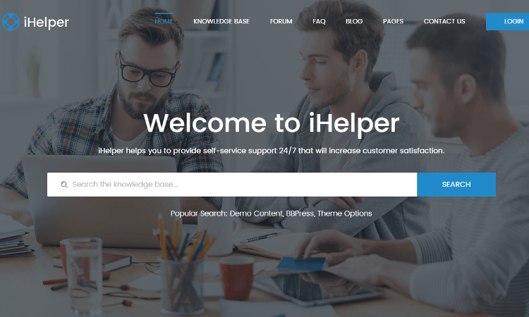 iHelper HTML5 Template