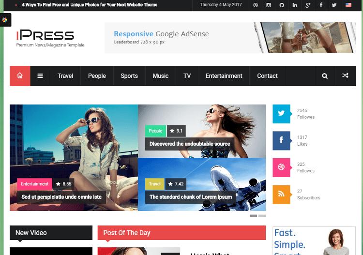 iPress HTML5 Template