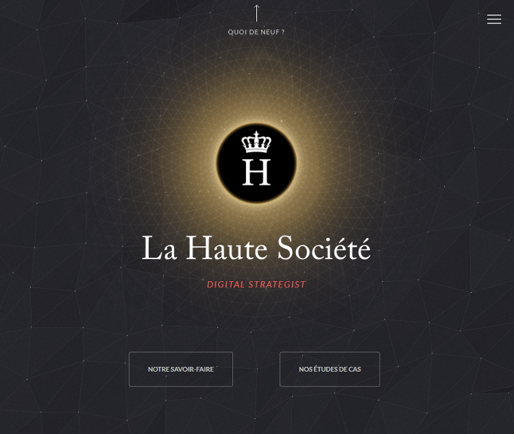3D Website of La Haute Societe Created by using WebGL