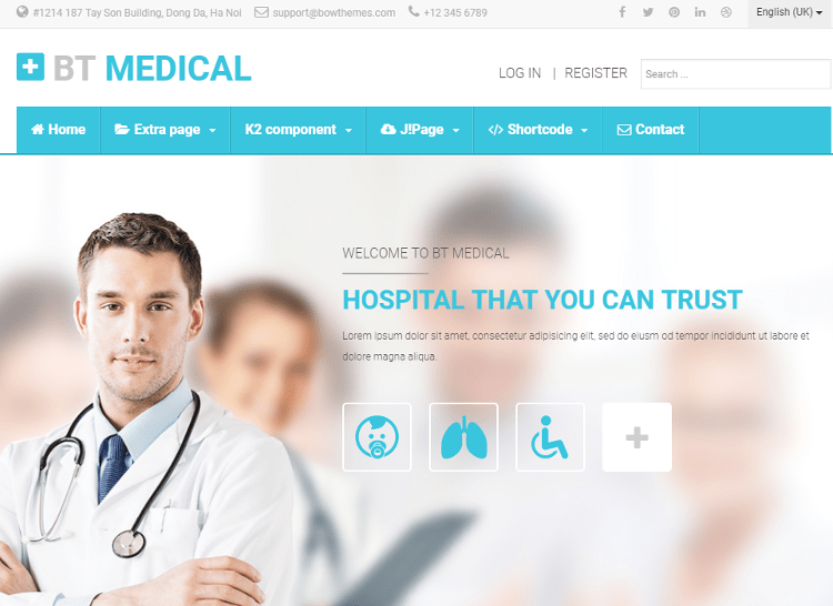 BT Medical Joomla Template