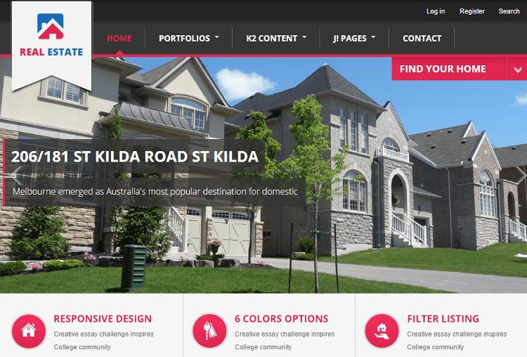 BT Real Estate Joomla Template