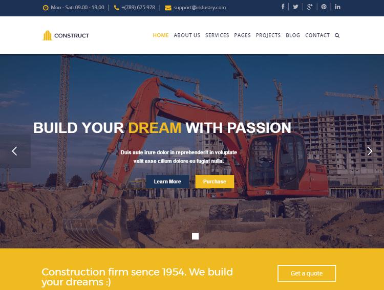 Construct Joomla Template
