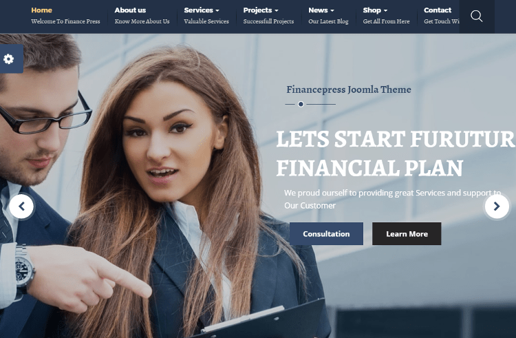 Finance Press Joomla Template
