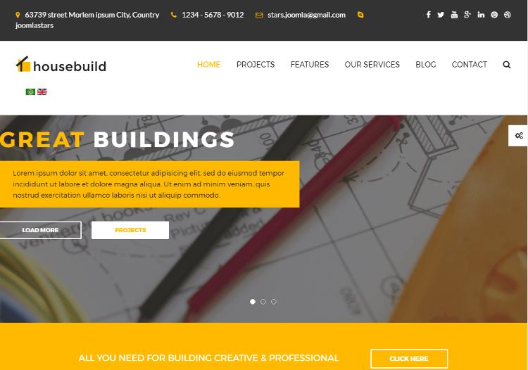 Housebuild Joomla Template