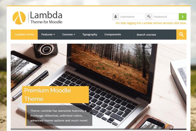 Lambda Moodle Theme