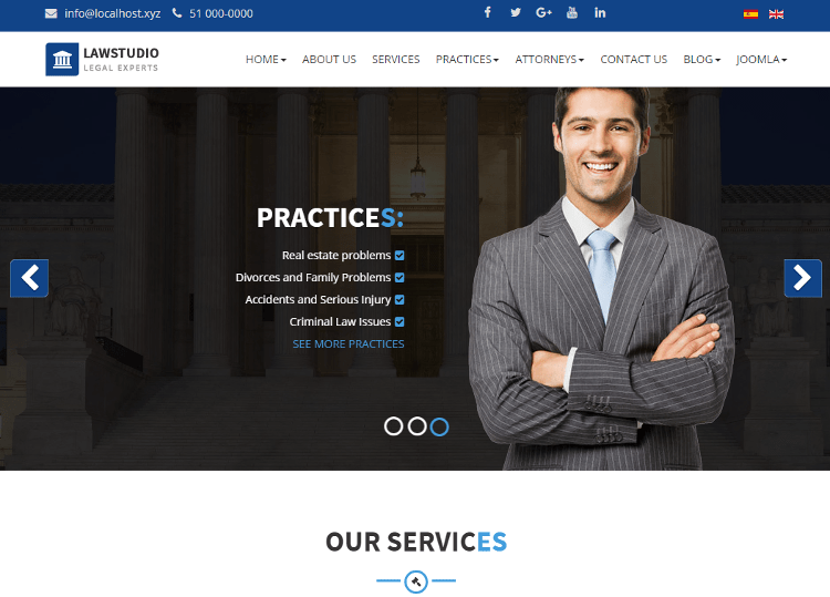 LawStudio Joomla Template