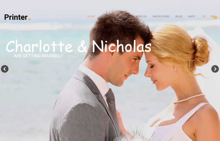 Printer Wedding Joomla Template