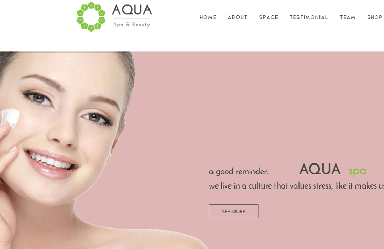 Spa and Beauty Joomla Template