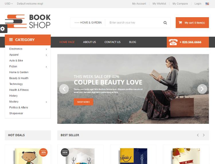 BookShop PrestaShop Theme