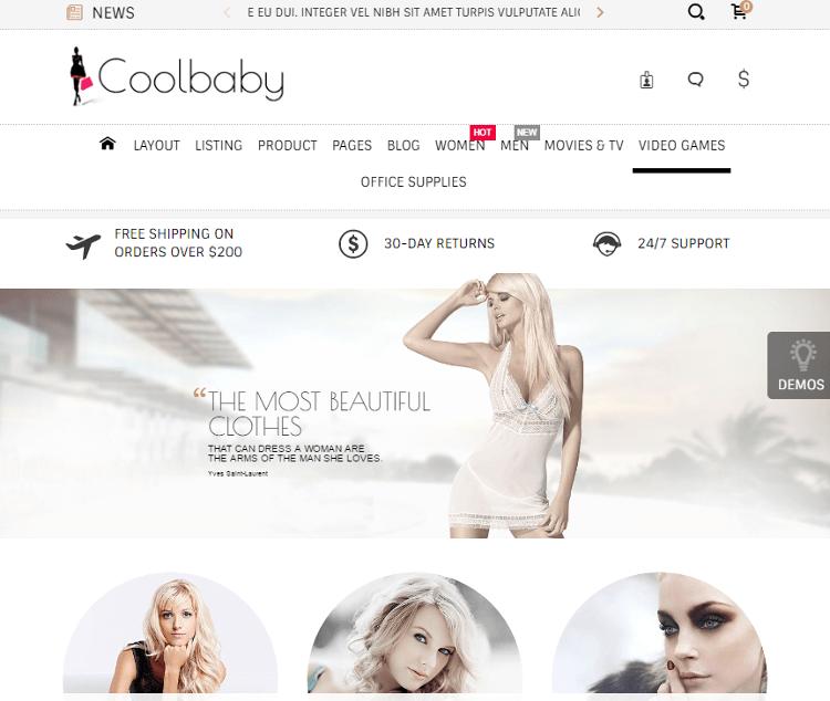 Coolbaby CS-Cart Theme
