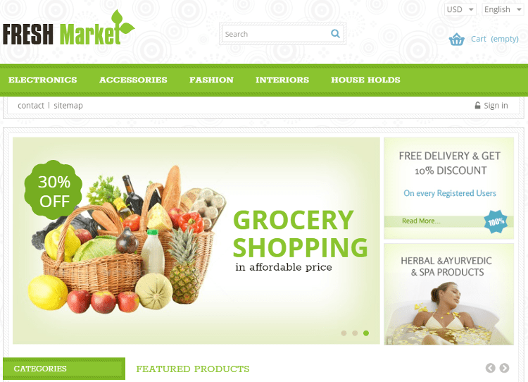 Fresh Market PrestaShop Theme