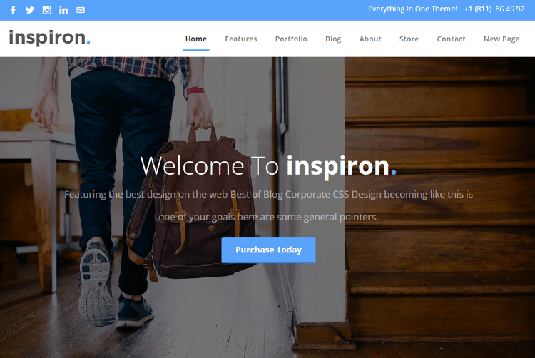 Inspiron Weebly Template