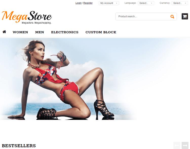 MegaStore osCommerce Template