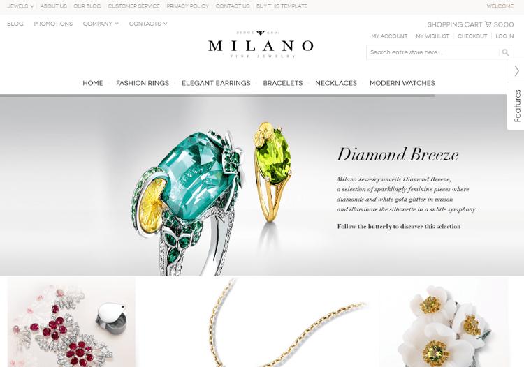Milano Jewelry Magento Theme
