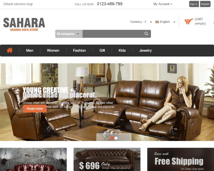 SAHARA Furniture Store PrestaShop Theme