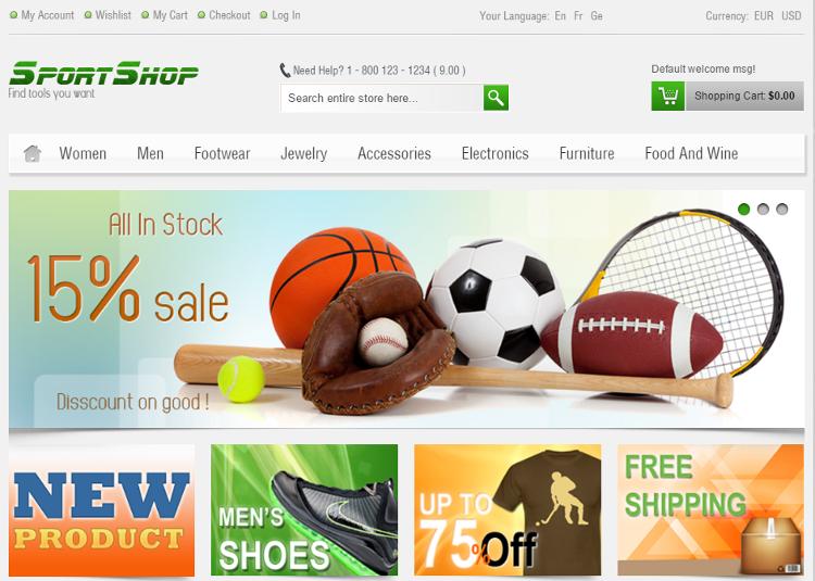 SportShop Magento Theme