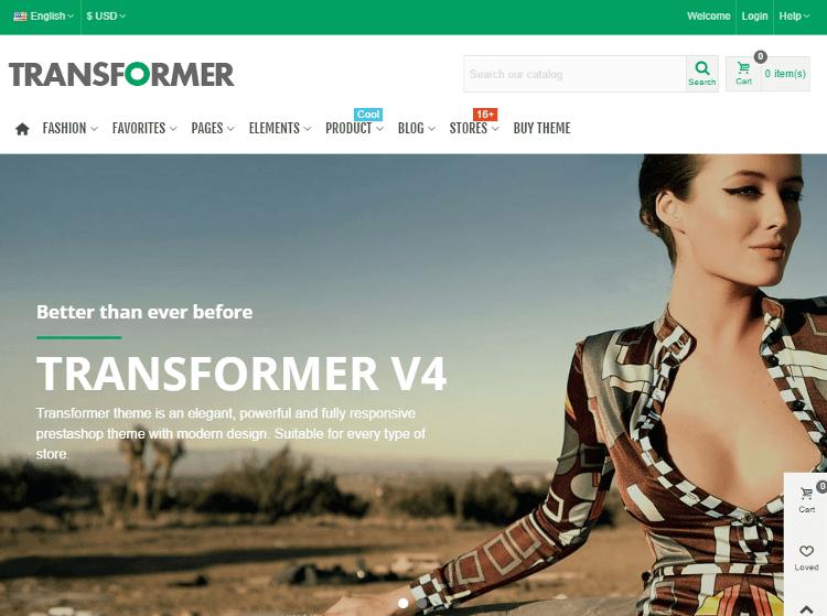 Transformer PrestaShop Theme