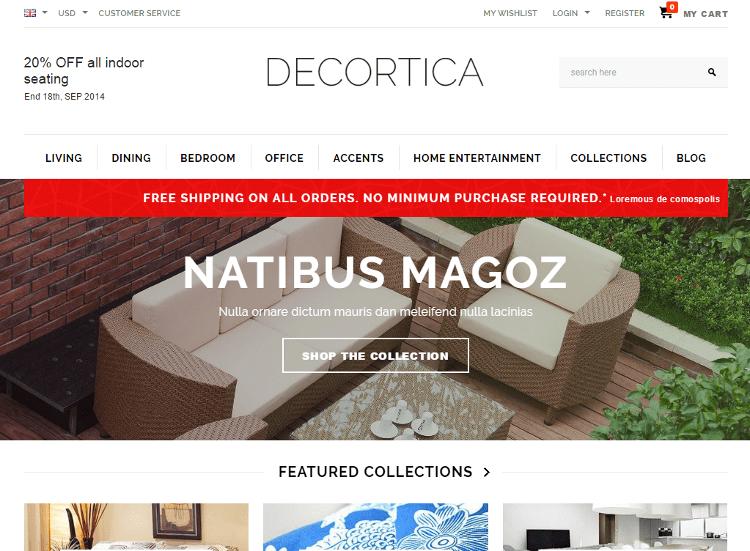 DECORTICA Shopify Theme