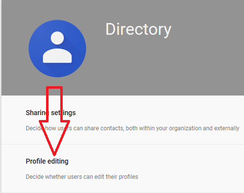 In Settings for Directory page, click on Profile Editing
