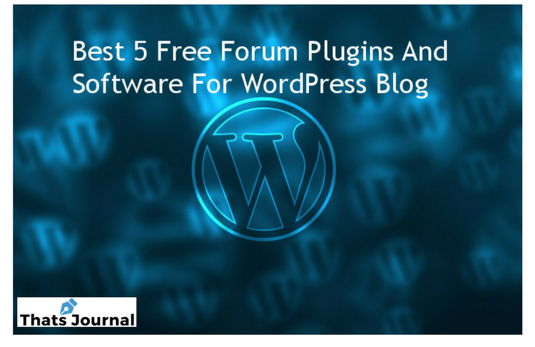 Best 5 Free Forum Plugins And Software For WordPress Blog