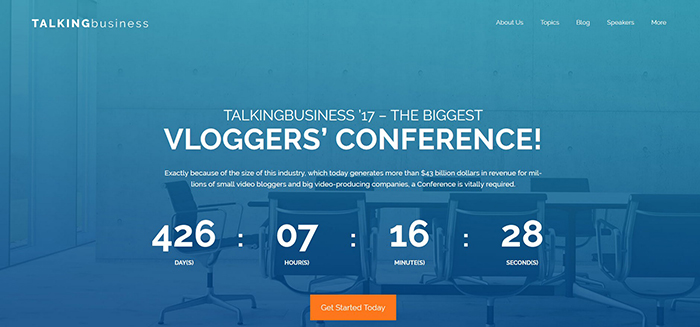 BizConf: Conference Free WordPress Site Design Theme
