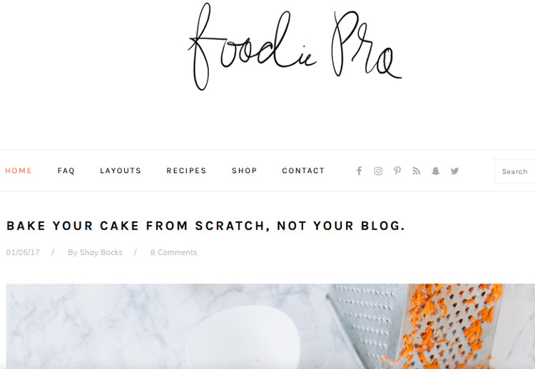 Foodie Pro WordPress Genesis Child Theme