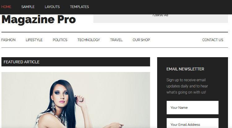 Magazine Pro WordPress Genesis Child Theme