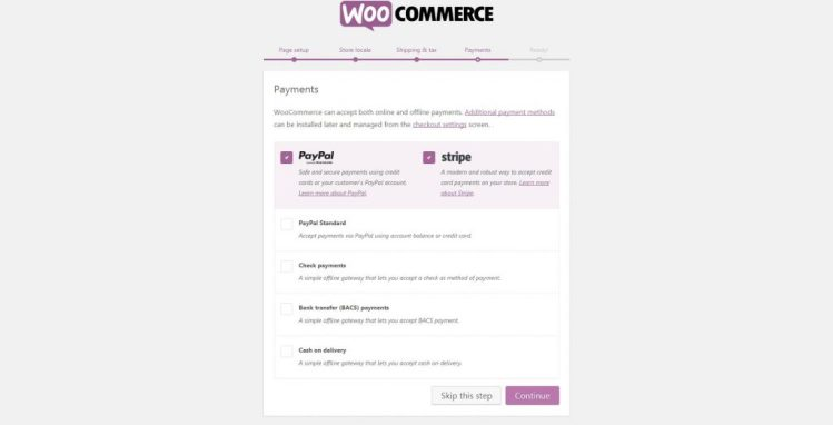 Choose payment systems in WooCommerce