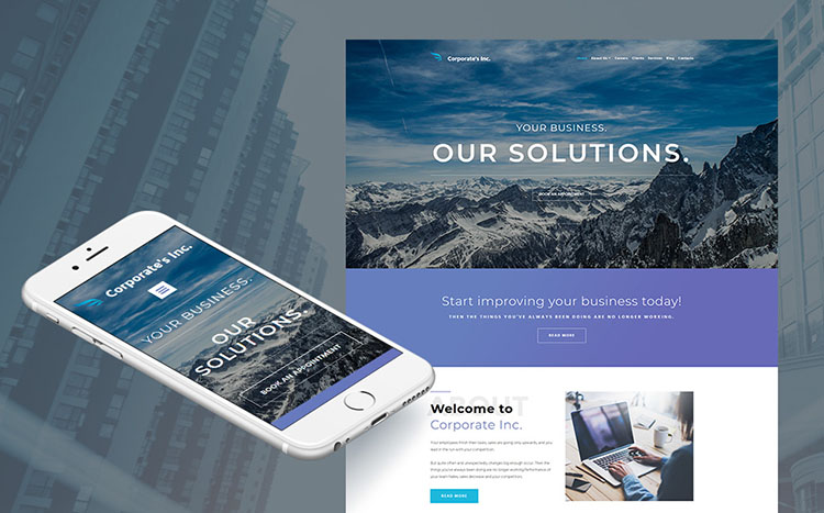 Corporate's Inc - Financial Advisor Website Template