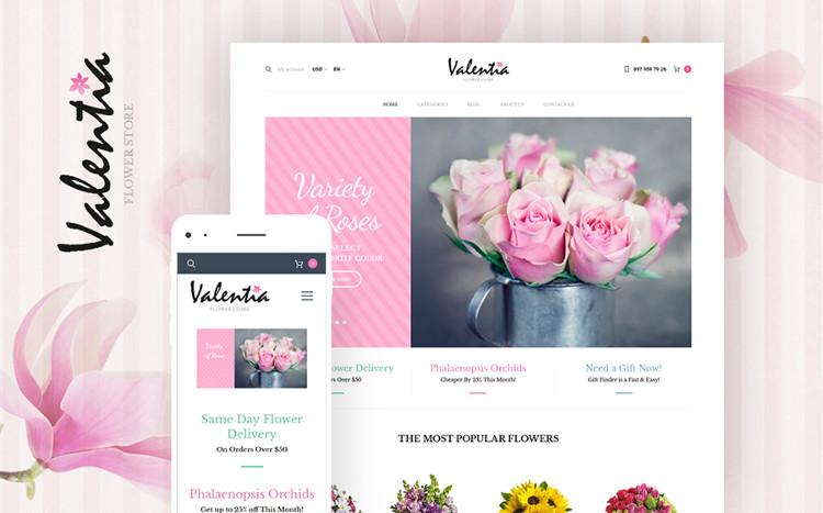 Valentia - Stylish WooCommerce Theme