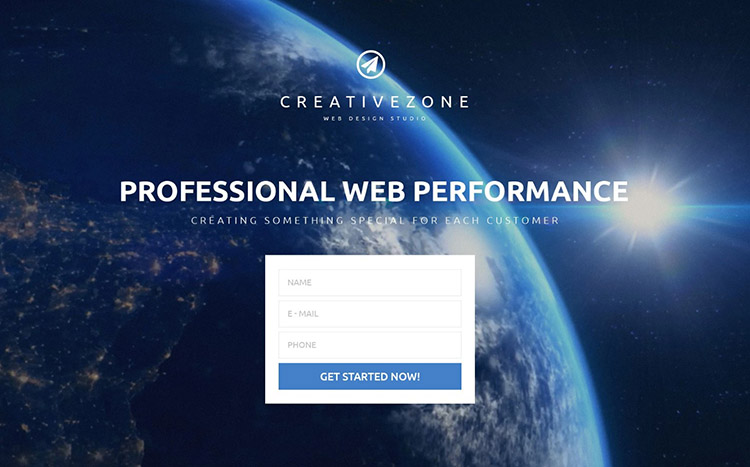 CreativeZone Landing Page Template
