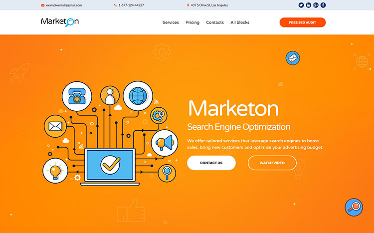 Marketon Landing Page Template