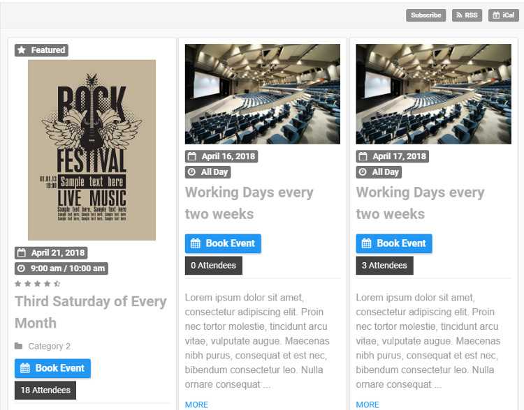Pro Event Calendar WordPress Plugin