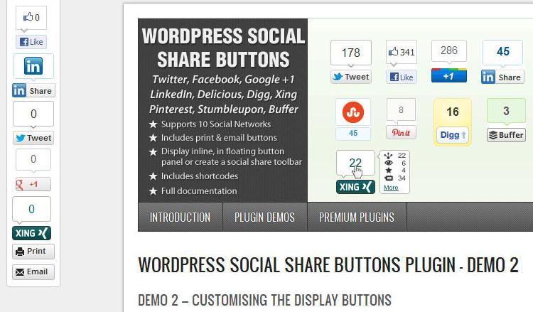 Social Share Buttons WordPress Plugin