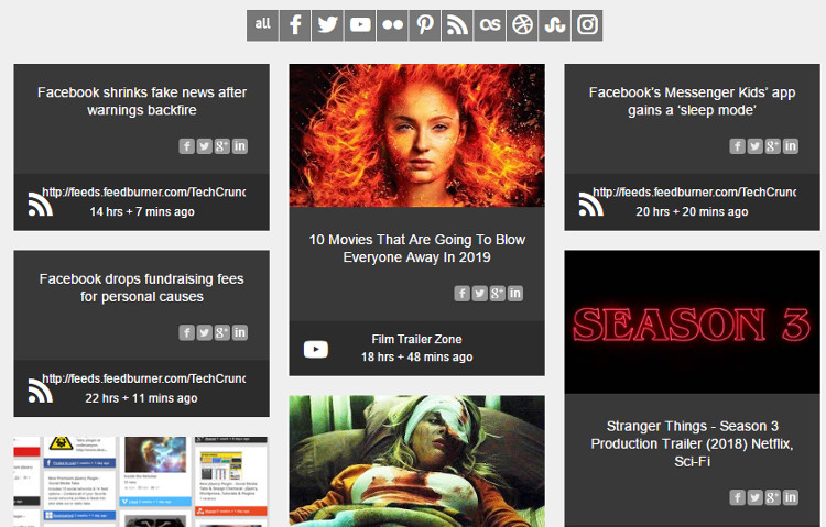 Social Stream WordPress Plugin