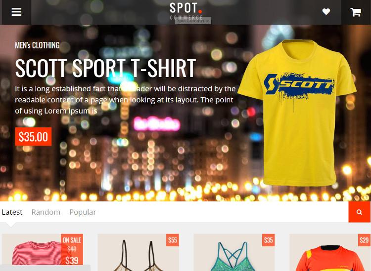 SpotCommerceBlogger Template