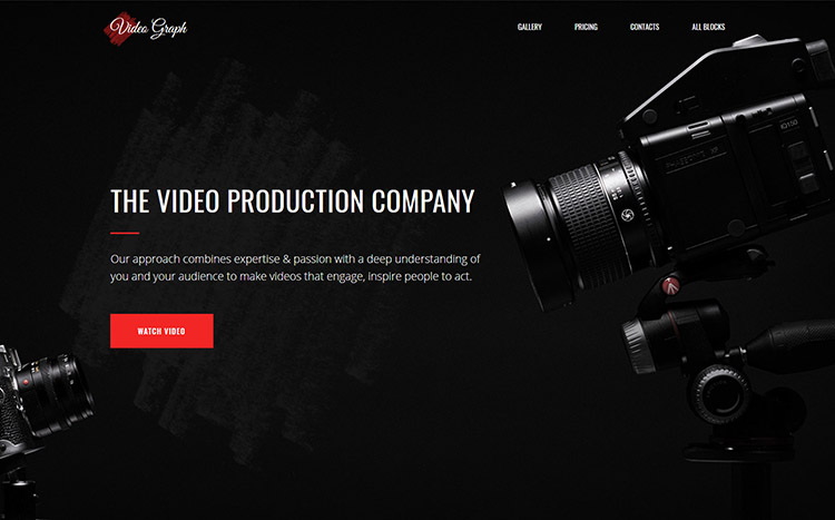 VideoGraph Landing Page Template