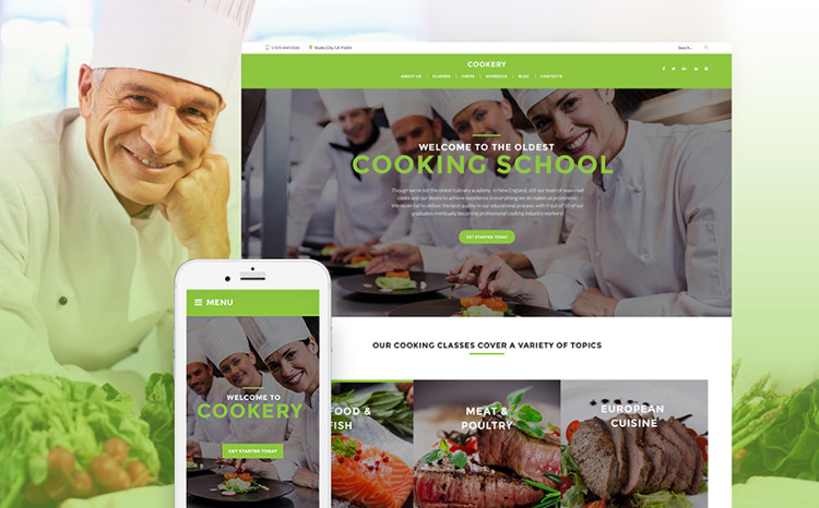 Culinary School Responsive WordPress Theme